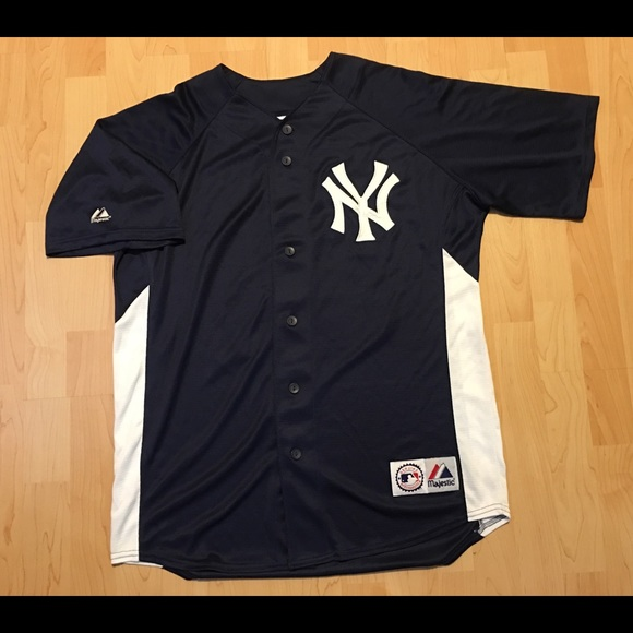 watch fe45f 8b035 Majestic MLB New York Yankees Sabathia Jersey L